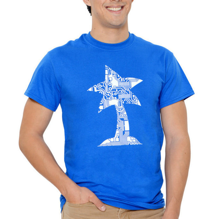 Pololu Circuit Logo T-Shirt: Royal Blue, Youth M