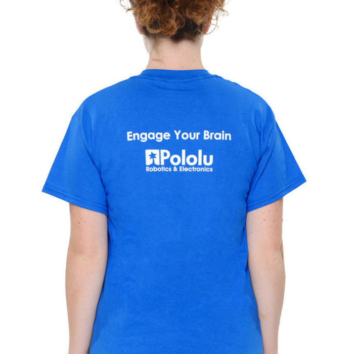 Pololu Circuit Logo T-Shirt: Royal Blue, Adult XL