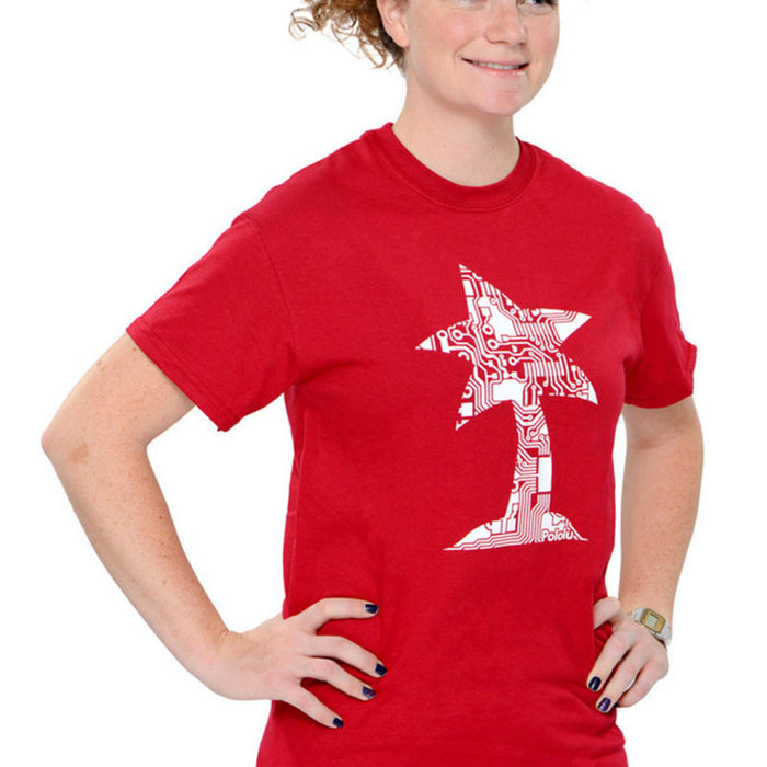 Pololu Circuit Logo T-Shirt: Cardinal Red, Youth XS