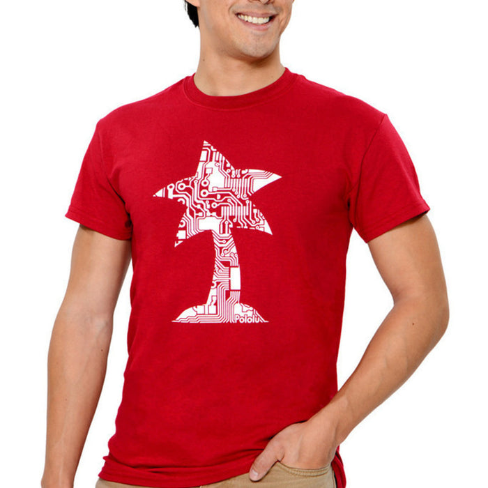 Pololu Circuit Logo T-Shirt: Cardinal Red, Adult S