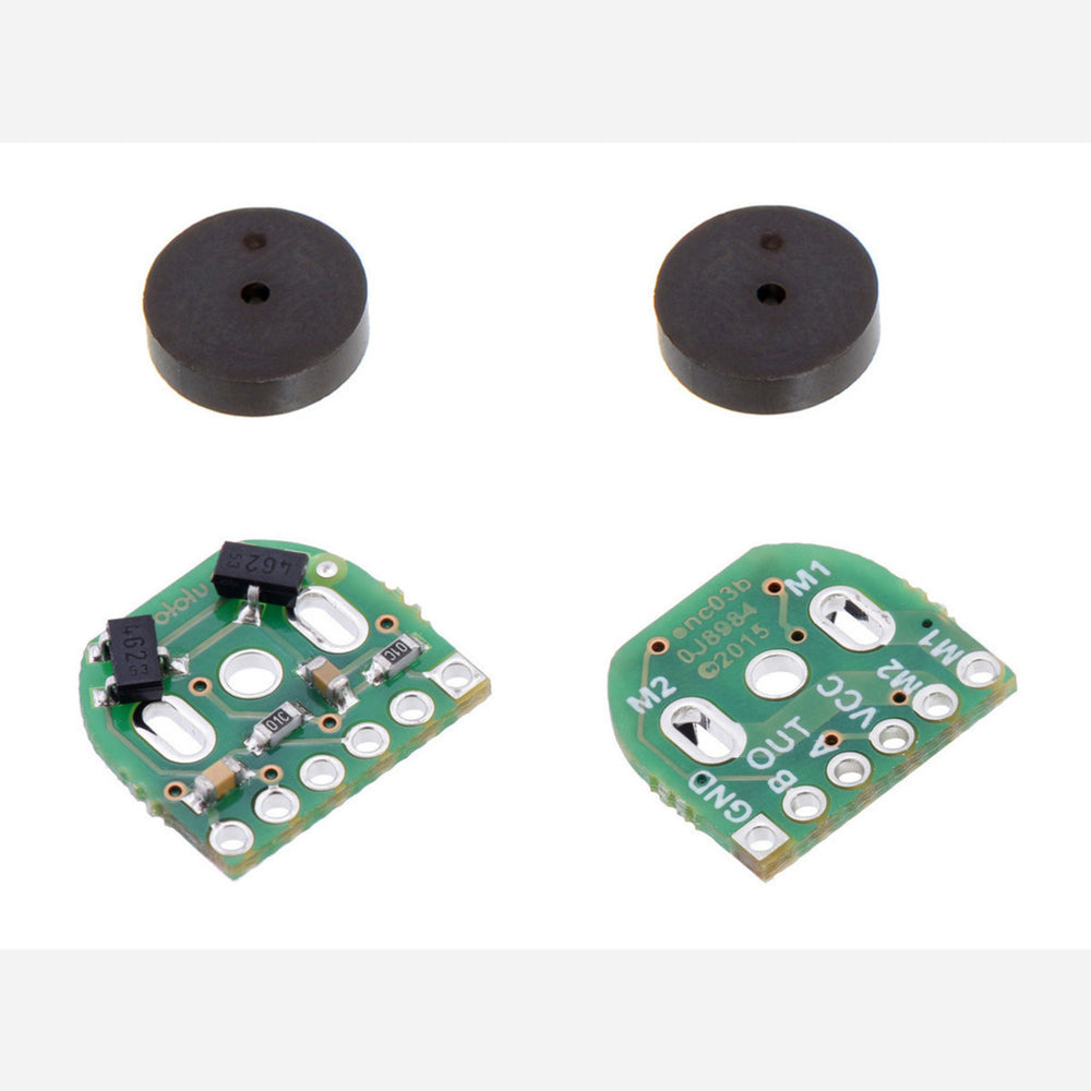 Magnetic Encoder Pair Kit for Micro Metal Gearmotors, 12 CPR, 2.7-18V (HPCB compatible)
