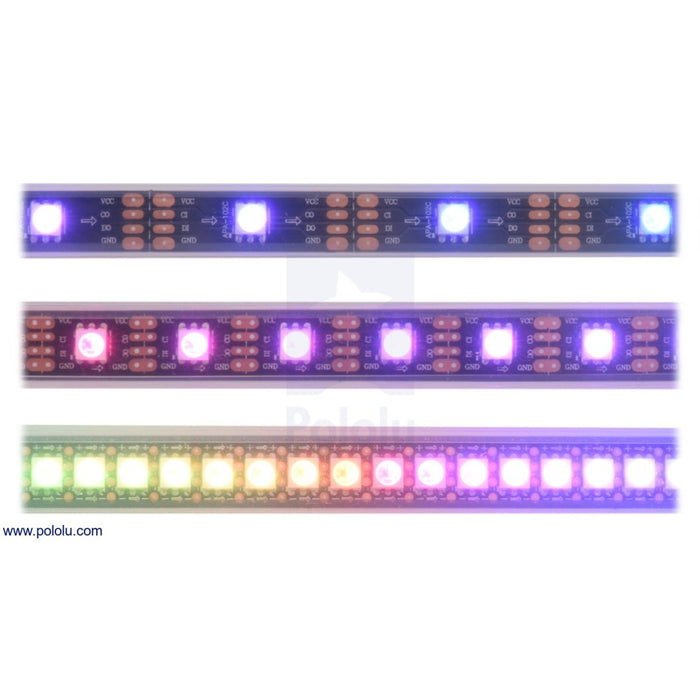 Addressable RGB 60-LED Strip, 5V, 1m (SK9822)