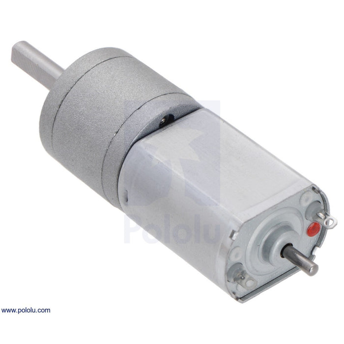 63:1 Metal Gearmotor 20Dx43L mm 6V with Extended Motor Shaft