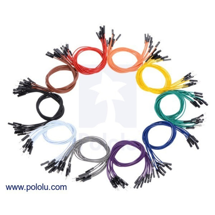 Premium Jumper Wire 60-Piece 6-Color Assortment M-F 1""