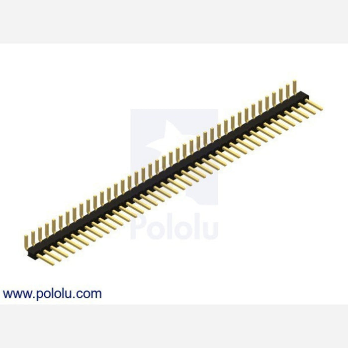 "0.100"" (2.54 mm) Breakaway Male Header: 1x40-Pin, Right Angle"