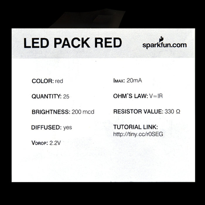 LED - Basic Red 5mm (25 pack)