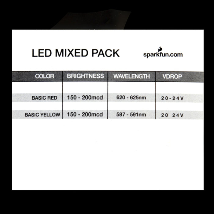 LED - Assorted 10 Red / 10 Yellow (20 pack)