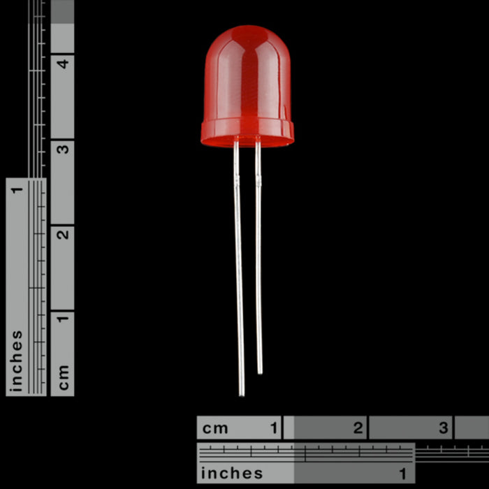 Diffused LED - Red 10mm