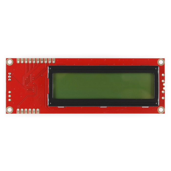 Serial Enabled 16x2 LCD - Black on Green 5V