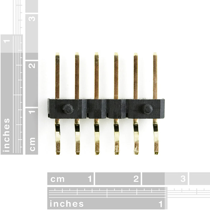 "Header - 6-pin Male (SMD, 0.1"", Right Angle)"