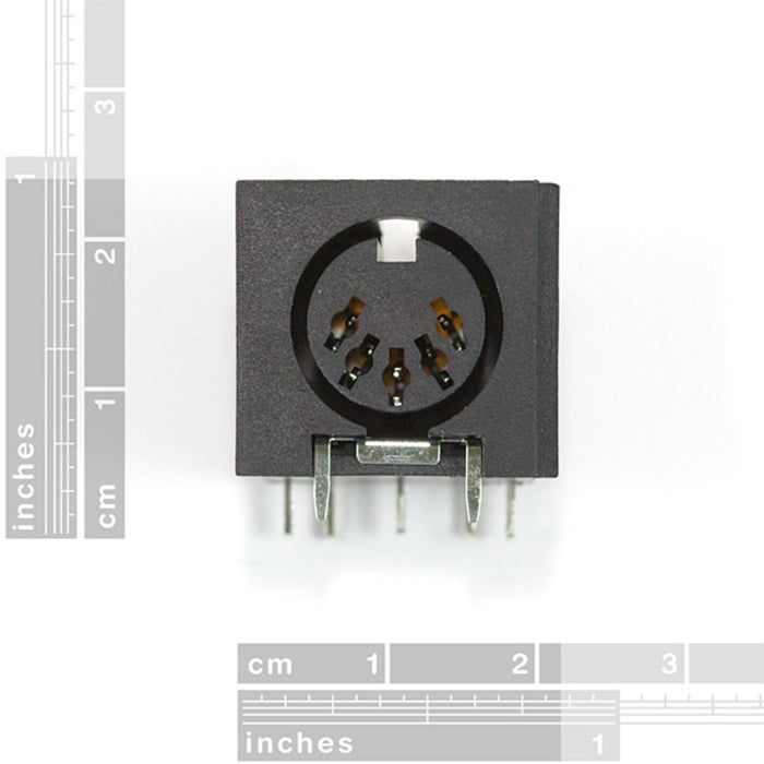 MIDI Connector - Female Right Angle