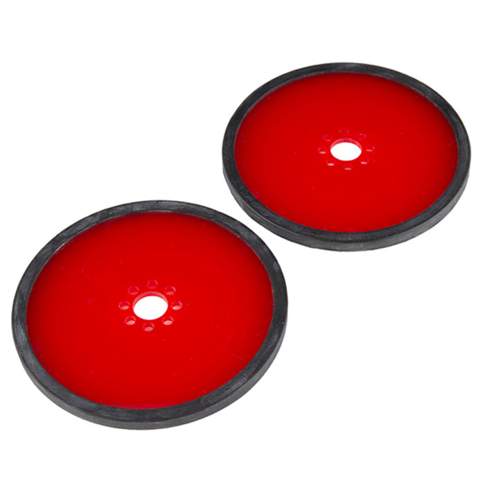 "Precision Disc Wheel - 4"" (Red, 2 Pack)"