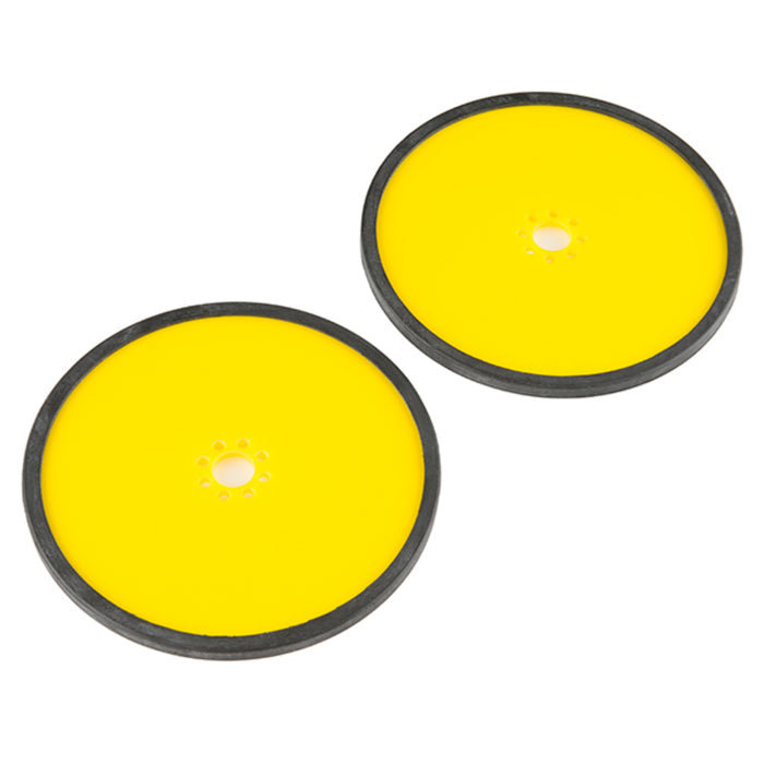 "Precision Disc Wheel - 5"" (Yellow, 2 Pack)"