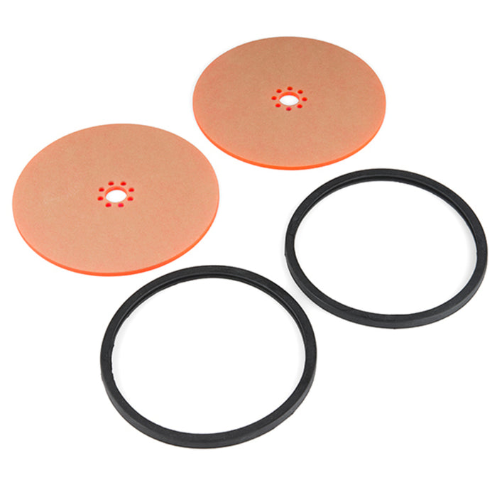 "Precision Disc Wheel - 5"" (Clear Pink, 2 Pack)"