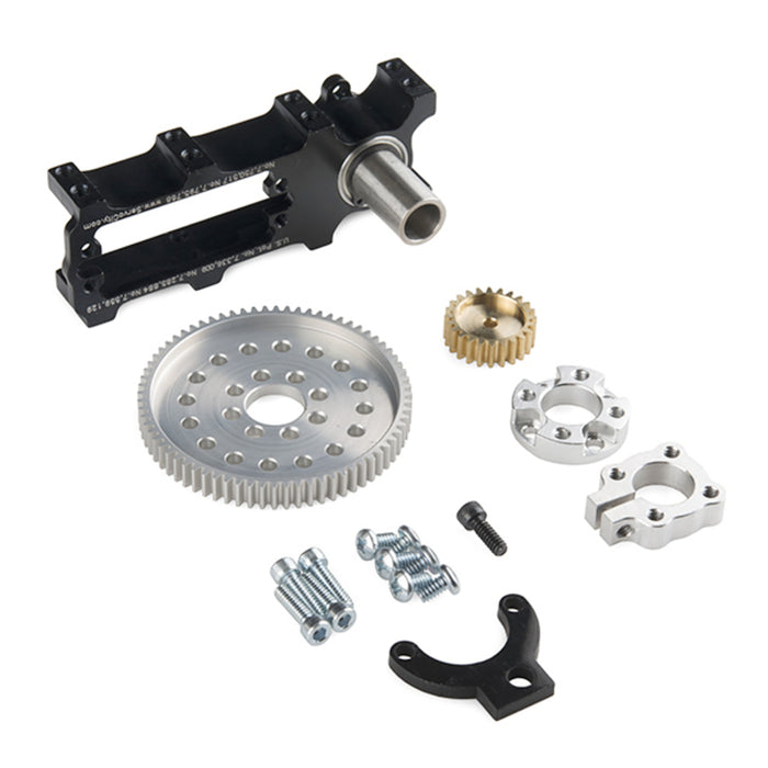 Channel Mount Gearbox Kit - Continuous Rotation (2:1 Ratio)