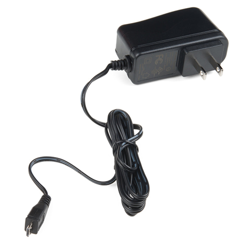 Wall Adapter Power Supply - 5.1V DC 2.5A (USB Micro-B)