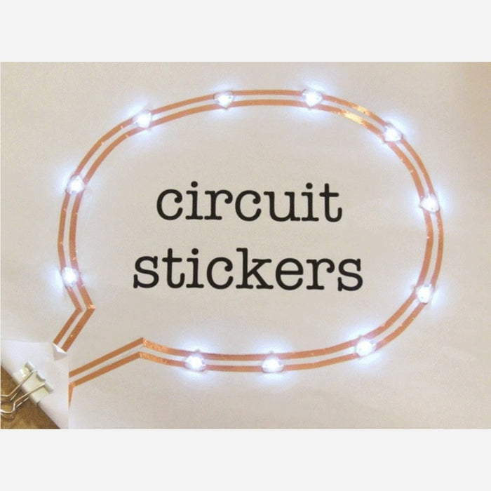 Circuit Sticker Starter Kit with English Sketchbook - Peel-and-stick Electronics for Crafting Circuits