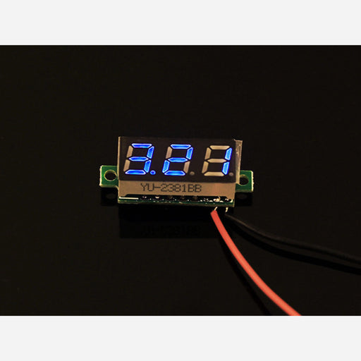 0.28 inch LED digital DC voltmeter - Blue