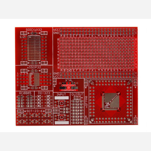 QFP surface mount protoboard - 0.50mm