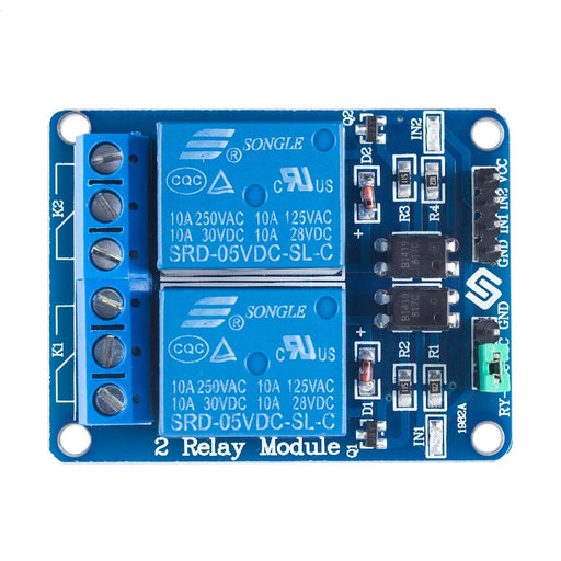 2 Channel DC 5V Relay Module for Arduino Raspberry Pi