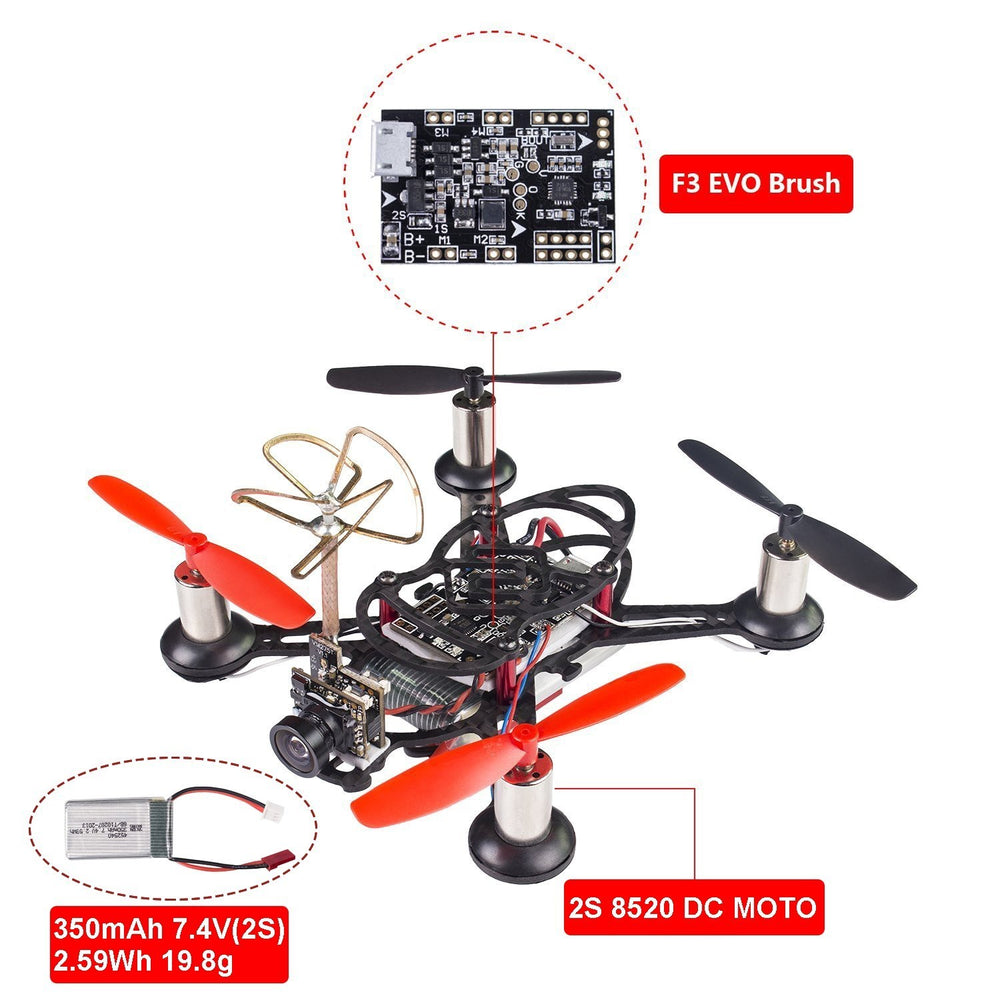 SunFounder BEE-100S 100mm Micro FPV Racing Quadcopter Drone