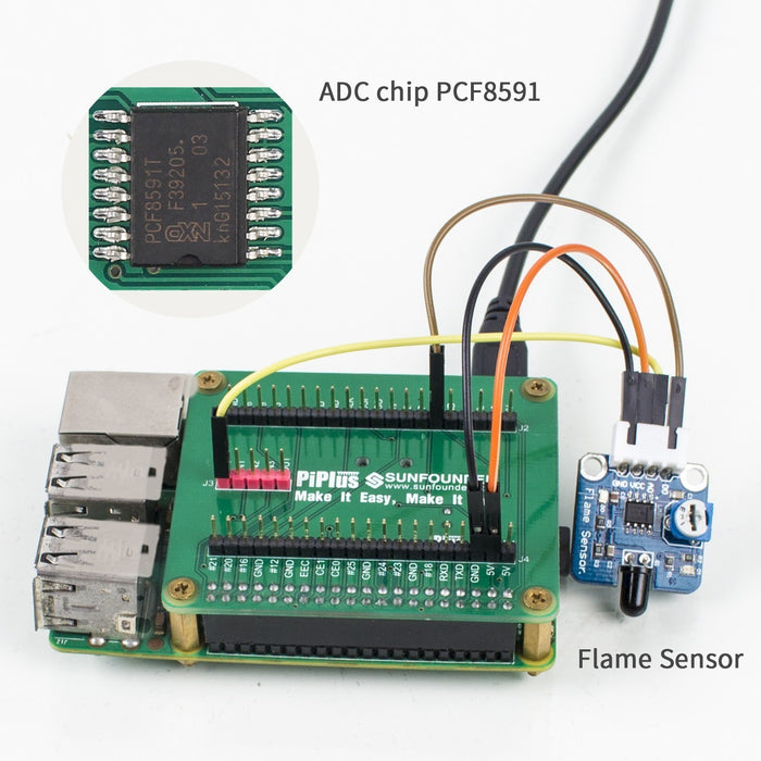 Sunfounder Raspberry Pi 3,2 Module B and 1 Module B+ GPIO Expansion Extension Board Plus Shield with DS1307 and PCF8591 chip