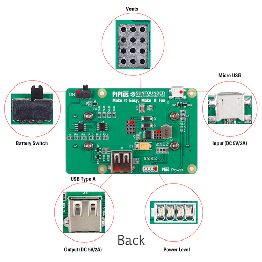 Raspberry Pi Lithium Battery Power Pack Expansion Board-Plus Power Module