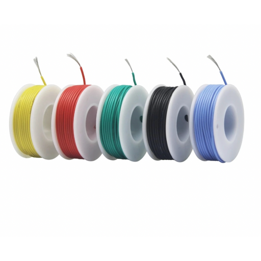 26 AWG silicone wire 5 colour box