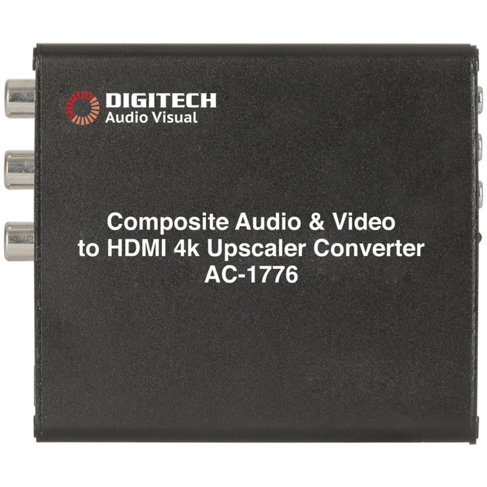 Composite Audio Video to HDMI 2.0 4K Upscaler Converter