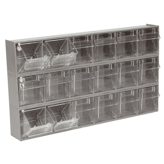 Large 6 Bin Parts Rack Cabinet