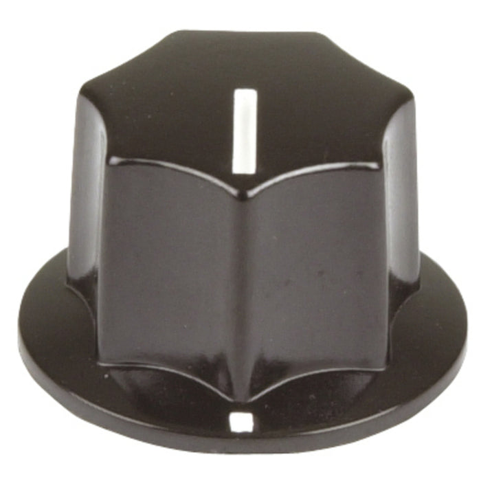 23mm Knob - Black Plastic with Pointer