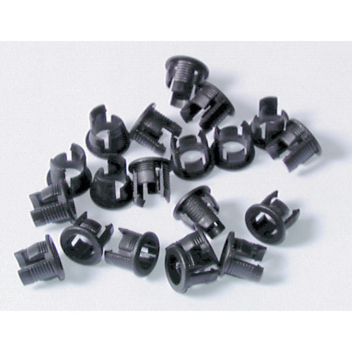5mm LED Clips Black - Pack of 20