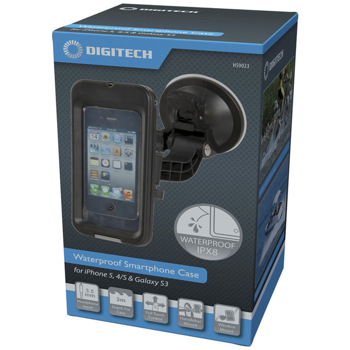 Smartphone Waterproof Case with Windscreen and Bike Mount