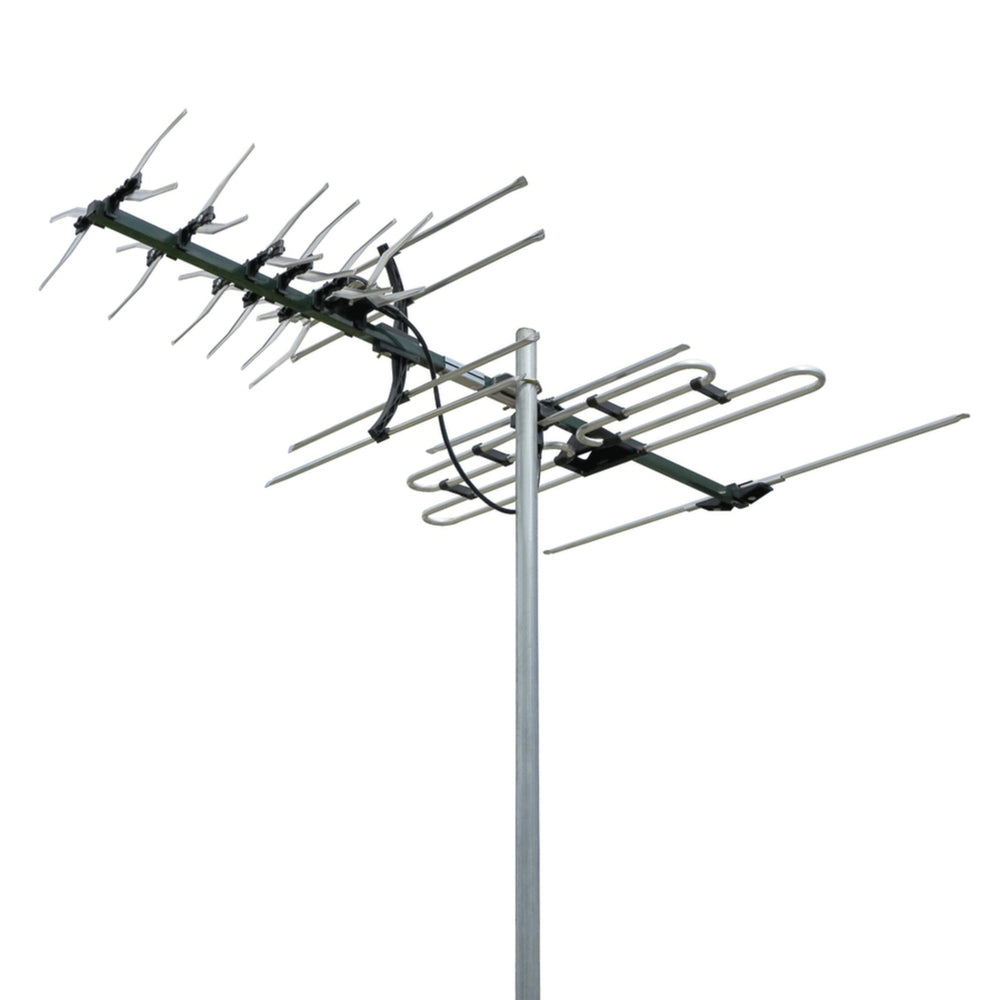 Digimatch VHF/UHF X-type Colinear 27 Element Receives Band 3, 4, and 5 (Channel 6-12 and 28-69)