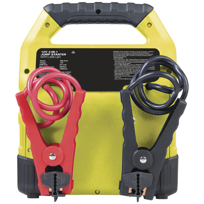 12V 12Ah Jump Starter with 2.4A USB and LED light