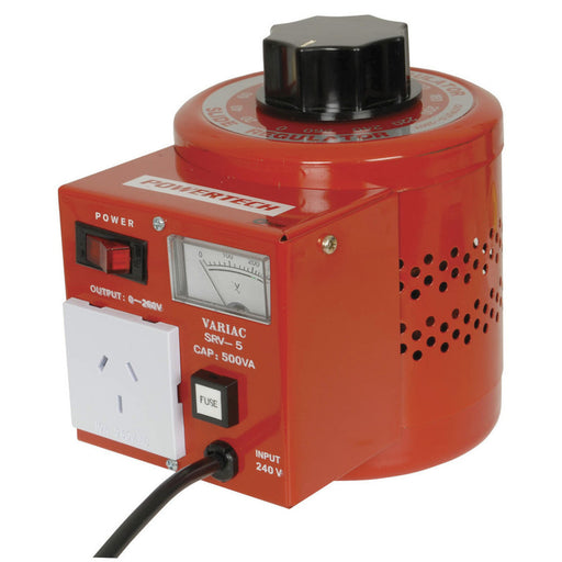 0-260VAC Variable Laboratory Autotransfomer (Variac) - 500VA