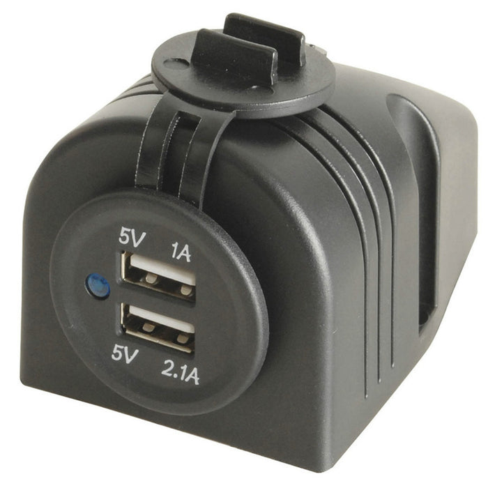 Twin USB Panel or Surface Mount Outlet 5V 3.1A