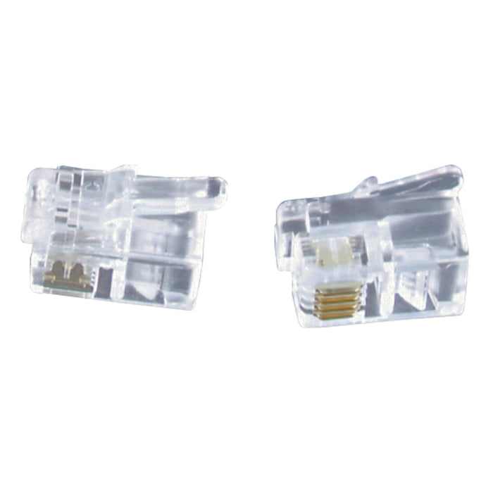 RJ11 Telephone plugs for Stranded Cable - Pk.5