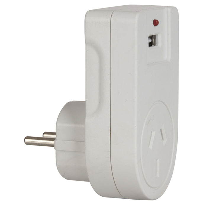 Europe Mains Travel Adaptor with USB