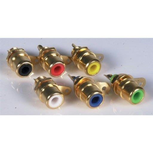 Yellow Gold-Plated RCA Chassis Socket