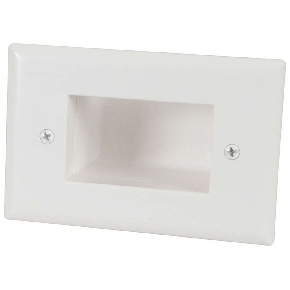 Recessed Cable Entry Wall Plate - Large