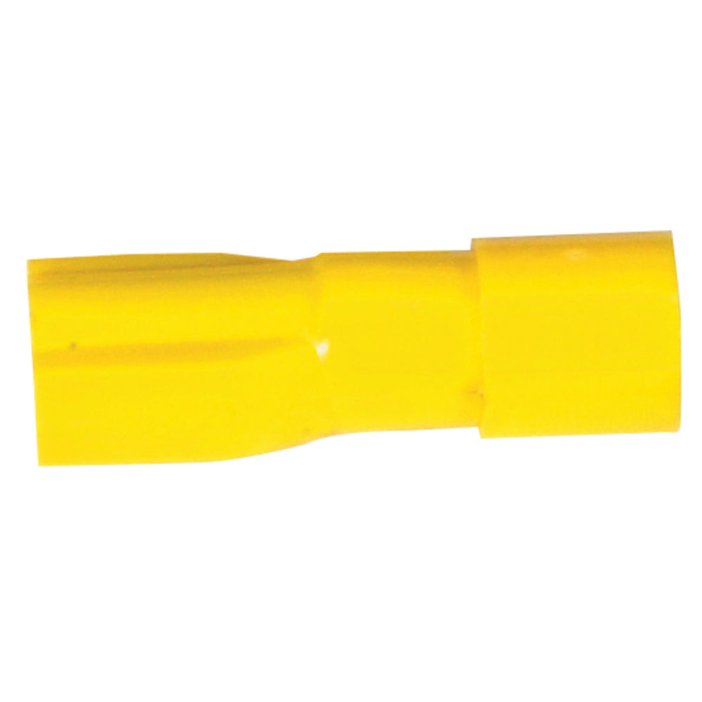 Yellow Fully Insulated Female Spade - Pack 50