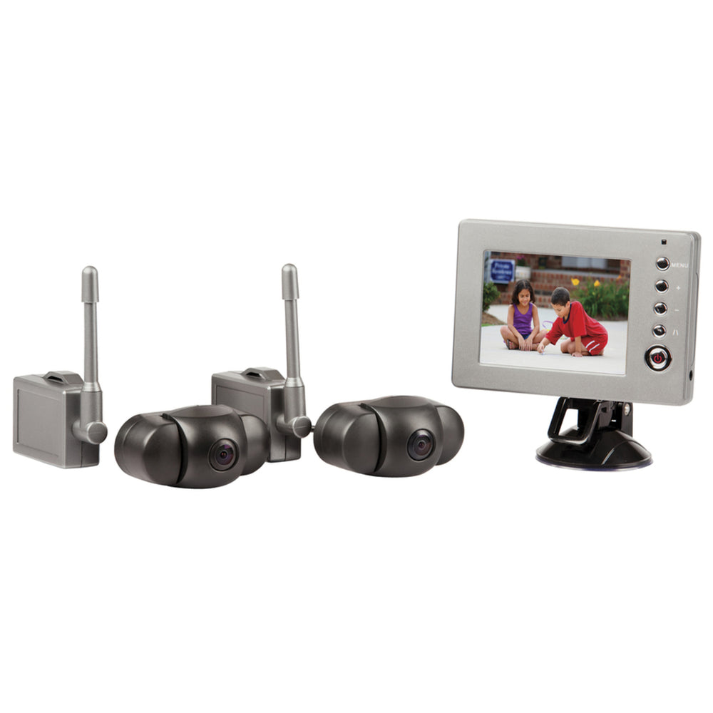 Wireless 2.4GHz Reversing Cameras and LCD Monitor Kit - 2 Cameras