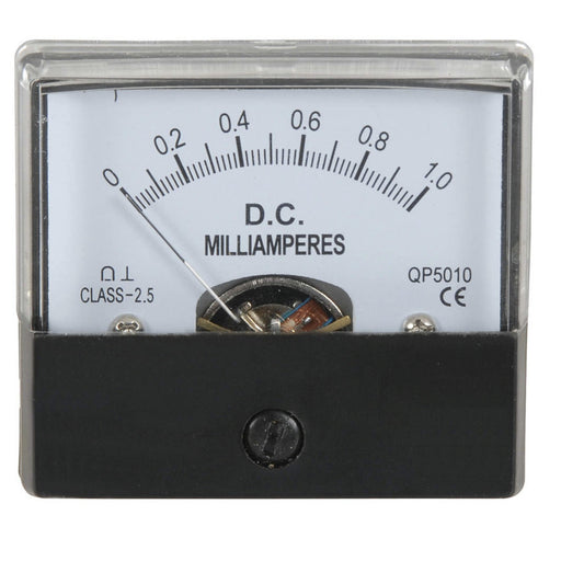 0- 1mA MU45 Panel Meter - Moving Coil Type