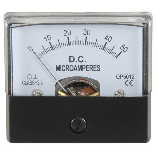 0 - 50uA MU45 Panel Meter - Moving Coil Type