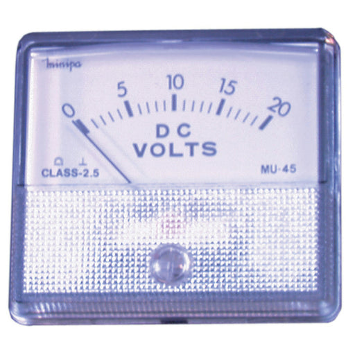0 - 20V MU45 Panel Meter - Moving Coil Type