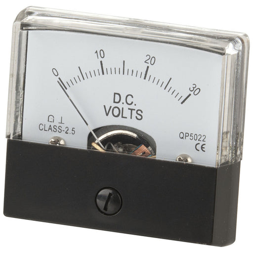 0 - 30V MU45 Panel Meter - Moving Coil Type