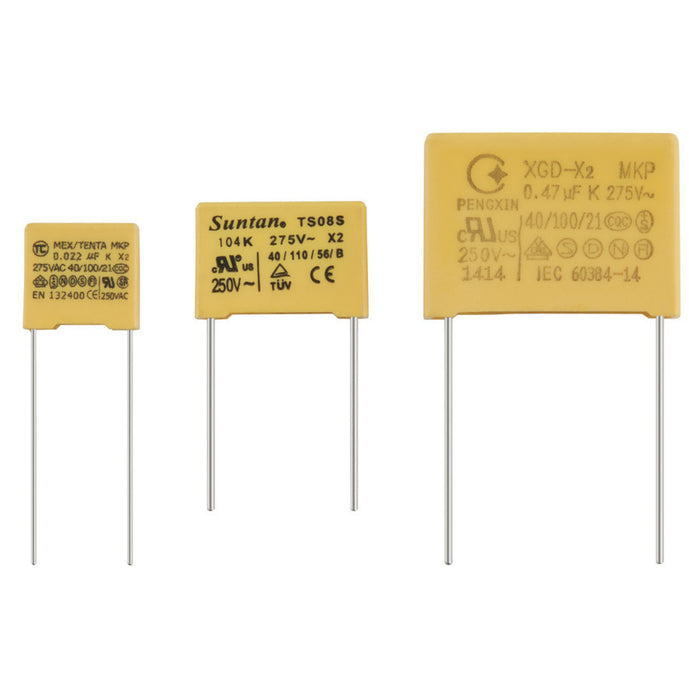 100nF 250VAC Metallised Polypropylene X2 Capacitor
