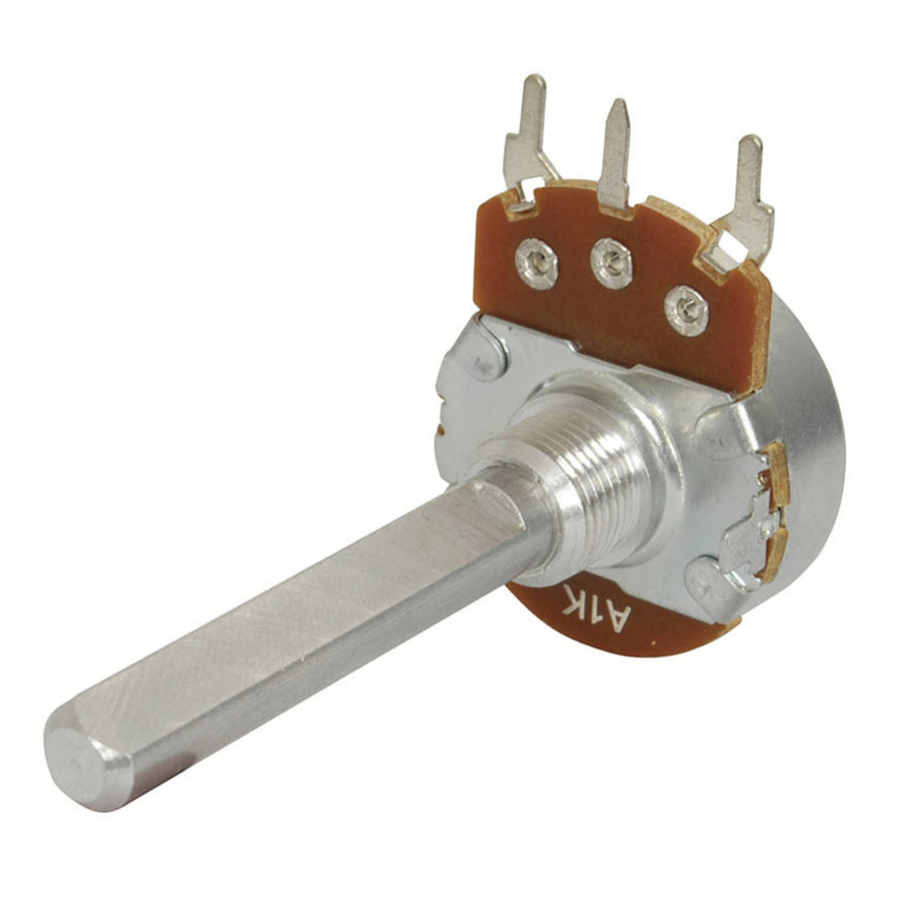 10k Ohm Logarithmic (A) Single Gang 24mm Potentiometer