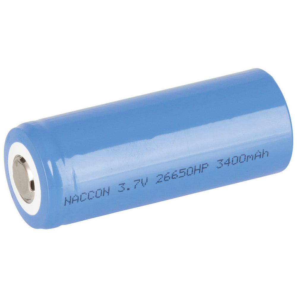 26650 Rechargeable Li-Ion Battery 3400mAh 3.7V Nipple